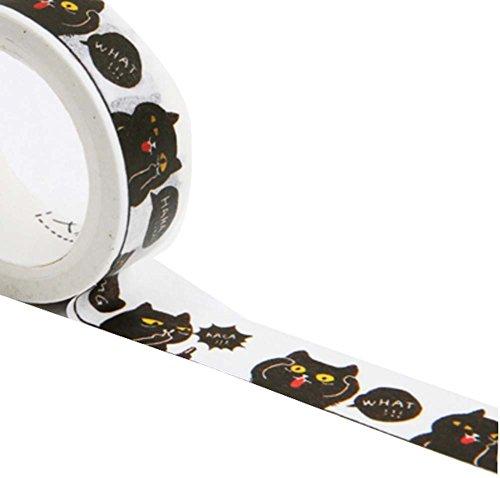 Frische süße dekorative Tape mit Cartoon Katze Muster, Set von 3, Katze Gesicht (Band Name Generator)
