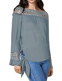 Semana Camisas Amazon Camisetas Y Blusas Última es Volantes BqBtnPF6O