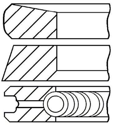 Goetze Engine 08-422007-00 Segments de pistons