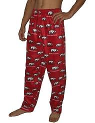NCAA Arkansas Razorbacks hommes Fall / Winter Polar Fleece Thermal Sleepwear / Pajama Pantalon