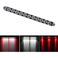 "haichen 15""11Barra de LED Tercera Luz De Freno Stop Turn Tail luz impermeable remolque camión blanco/rojo"