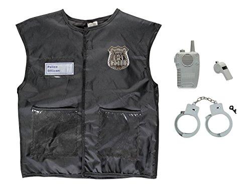Idena 0952-4 Polizei Kinder Kostüm Set, unisex-child, One Size (Kinder Kostüme Polizei)