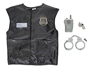 Idena 0952-4Policía Disfraz Para Niños Set, One size