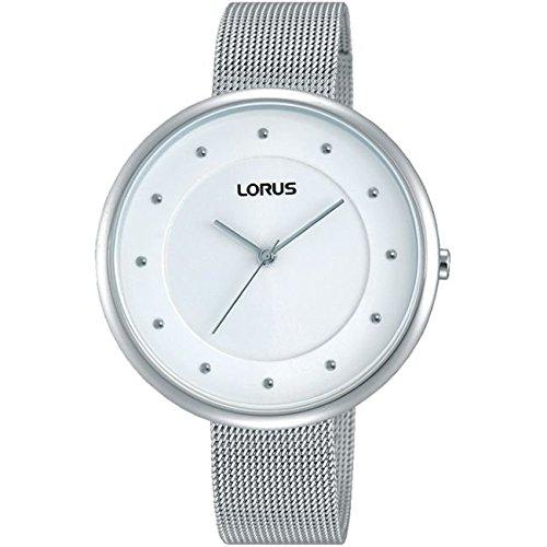 Lorus Ladies Large Dial Stainless Steel Silver Watch RG293JX9