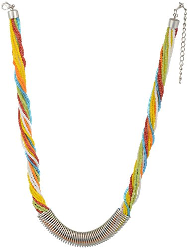 Sempre Bellezza europea di Londra Multi Strand Colorful collana con 18placcato oro tono designer collana per le donne