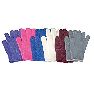 Amesbichler Grippy Riding Gloves – , Embossed, Suitable for both to Adults that to Children Inside Thanks to the stretch Adjustable Size, bianco