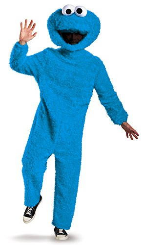 Monster Cookie Street Sesame Kostüm - Disguise Men's Full Plush Cookie Monster Prestige Adult Costume