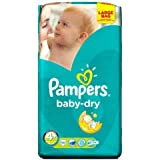 Couches Pampers Baby Dry taille 4  + grand format 56 par lot de 5