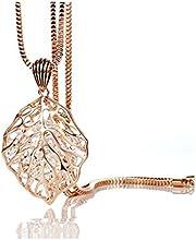 z-p elegante elegancia vestido largo de patrón de hojas colgante de cristal delicado Jersey cadena