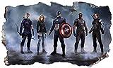 Chicbanners Avengers Superheld v857Selbstklebend Magic Wandtattoo Fenster Poster Wall Art Größe 1000mm Breit x 600mm Tief (groß)