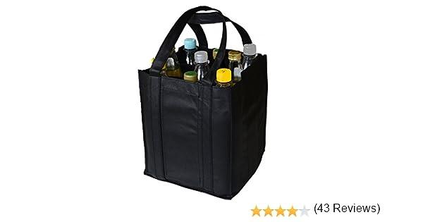 Borsa porta bottiglie shopper cestino con manici Grau-filz 23x15x15cm