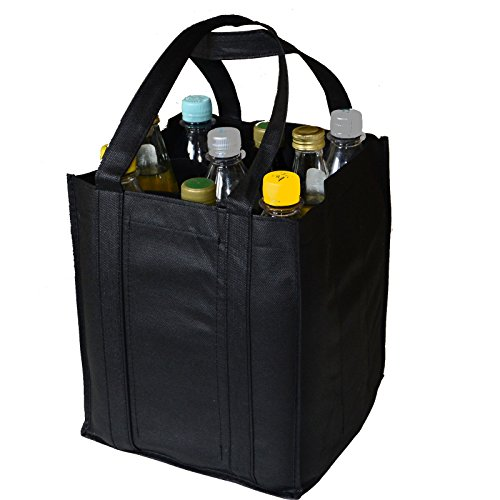 Bottle Bag Bottle Bag Bag Shopping Carrier Bag Bottle Basket Carrier, black, 27x23x21cm