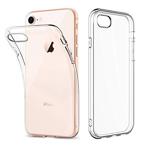 Amonke Hülle für iPhone 8 iPhone 7 - Crystal Clear iPhone 7 8 Handyhülle Silikon Durchsichtig - Ultra Dünn TPU Case Backcover Schutzhülle Transparent für iPhone7 iPhone8