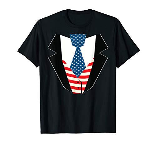 Uncle Sam Anzug Lustig Freiheit Flagge Patriotisches Kostüm T-Shirt