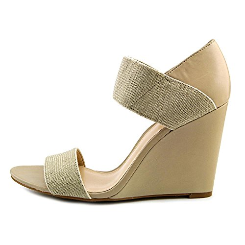 Vince Camuto Moona Femmes Cuir Sandales Compensés Natural-Dusty Taupe