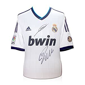 Cristiano Ronaldo et Zinedine Zidane Signé Real Madrid maillot de foot