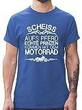 Motorräder - Scheiß aufs Pferd echte Prinzen kommen mit dem Motorrad - XL - Royalblau - L190 - Herren T-Shirt und Männer Tshirt