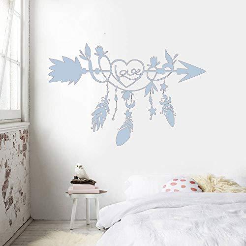 guijiumai Poster per Camera da Letto Decorazioni per pareti Arte Etnica Freccia Amore s Salone di Bellezza Adesivi murali Decorazioni per la Camera L 7 88x57cm