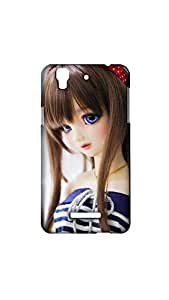 Barbie Girl With Blue Eyes Case For MICROMAX YUREKA