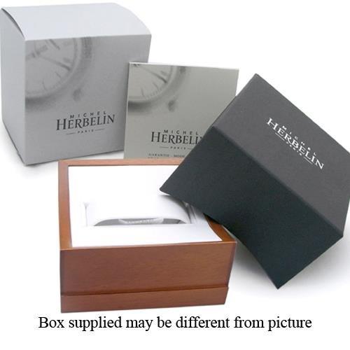 MICHEL HERBELIN MEN'S EPSILON CLASSIC 36MM STEEL CASE QUARTZ WATCH 414/BT01