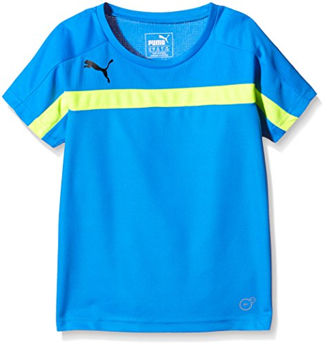 PUMA Kinder T-Shirt IT evoTRG Training Tee, Atomic Blue-Safety Yellow