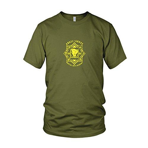 Angel Grove Academy - Herren T-Shirt, Größe: M, Farbe: army (Grüne Power Ranger Samurai Kostüm)