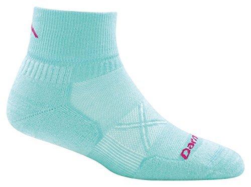 Darn Tough Coolmax Vertex 1/4 Ultralight Cushion Sock - Women's Aqua Medium (1/4 Sock Coolmax)