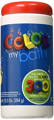 Color My Bath - Water Colour Changing Bath Tablets, 300-Piece