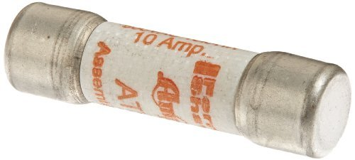 Mersen ATQ Amp-Trap Time-Delay Midget Fuse, 500VAC, 10kA, 10 Ampere, 13/32 Diameter x 1-1/2 Length by Mersen
