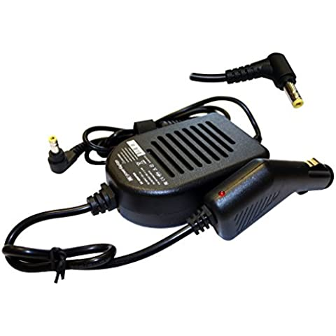 Toshiba Satellite L500-1W Adattatore caricabatteria di alimentazione CD da auto