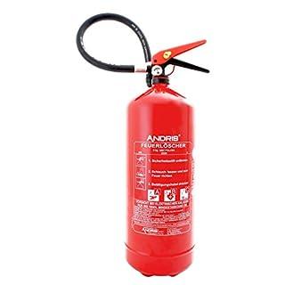 Feuerlöscher Pulver ABC 6kg Manometer NEU Orig. ANDRIS® Made in EU