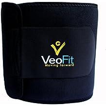VEOFIT Cinturón Abdominal de Sudoración: Cinturón adelgazante para Hombre y Mujer/ Efecto adelgazante – Tonifica y ayuda a eliminar el exceso de agua para conseguir un vientre plano - Talla XS-XXXL