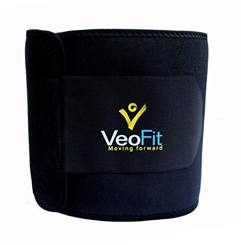 VEOFIT Schwitzgürtel für den Bauch: Premium-Bauchweg-Gürtel, für Mann & Frau/XL-XXXL Größe/Macht Sie schlanker, kräftigt und wirkt entwässernd