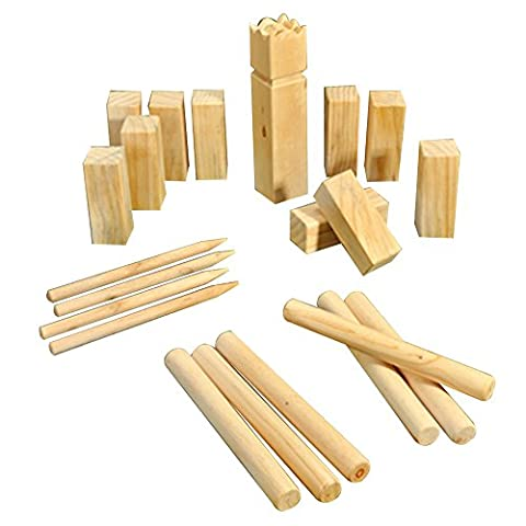 COM-FOUR ® 22 Piece Kubb, Swedish Chess