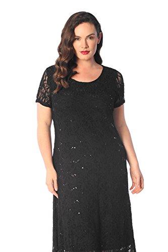 Short Sleeve Flapper Dress Black (Fashion Plus Flapper Kleid Schwarz)