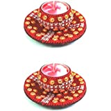 Handmade Decorative Candles Holder/Home Decor/TEALIGHT Candle Holder Set Of 2