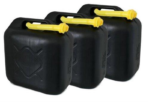 AD Tuning GmbH & Co. KG Kunststoff Kanister, 3er Set, Volumen: je 20 Liter (Lieferung ohne Inhalt). Inkl. Ausgieser - Schnorchel.