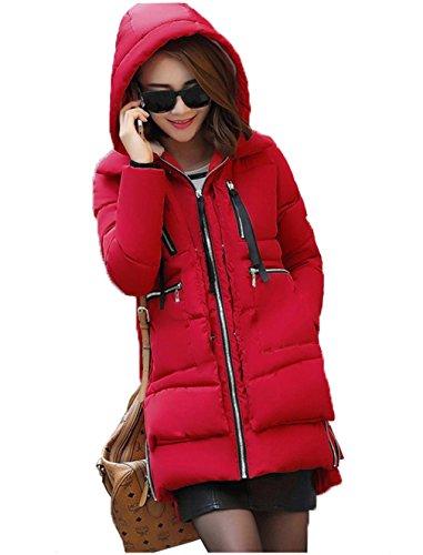 COMVIP -  Cappotto  - Basic - Maniche lunghe  - Donna Red
