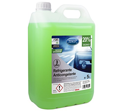 Tamar 601110005 Coolant / Antifreeze 20% Organic, 5 liters