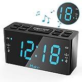 Alarm Clocks, Alarm Clock Radio, Haice Clock Radios Alarm Clocks Bedside non Ticking