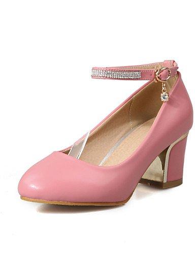 WSS 2016 Chaussures Femme-Bureau & Travail / Décontracté-Noir / Rose / Blanc / Beige-Gros Talon-Talons / Confort / Bout Arrondi-Talons-Laine white-us5 / eu35 / uk3 / cn34