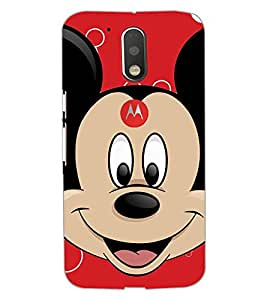 PrintDhaba Mickey Mouse D-2318 Back Case Cover for MOTOROLA MOTO G4 PLUS (Multi-Coloured)