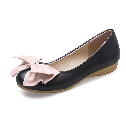 Süße Halbschuhe/Bogen Student Schuhe/die Mädchen Prinzessin Schuhe/Flache Freizeitschuhe A