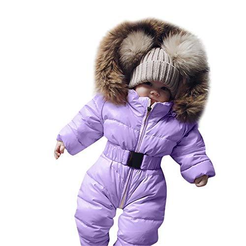 (TPulling Baby Mädchen Junge Kleidung Spielanzug-Jacke mit Kapuze Warmer starker Mantel-Oberbekleidung)