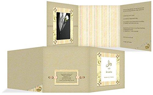Hochzeitskarten: Einladung Bund fürs Leben, hochwertige Einladung zur Heirat inklusive Umschläge | 40 Karten (format: 145.00x145.00mm) color: Grün - Kontur-bund