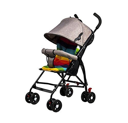 BLLz&Xdd Multifunktions-Kind-Laufkatze-tragbarer Kinderwagen, der kann ziehen kann tragen Breathable bequemes stoßsicheres Anti-hunchback Sonnenschutz-Auto (Farbe : Khaki)