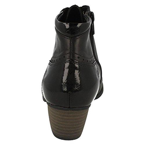 Remonte Stiefel R9170-35 Rot Schwarz/Schwarz