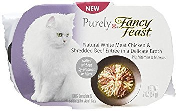 Fancy Feast Appetizers Natural White Meat Chicken and Shredded Beef Cat Food, 2-Ounce Pouch by Purina Fancy Feast