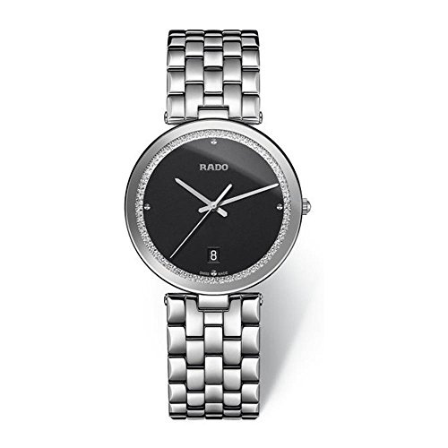 Rado Women's Florence Steel Bracelet & Case Quartz Black Dial Watch R48870153
