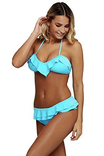 Akalili Damen Bikini-Set Gr. Medium, blau (Teen Girl Coustumes)